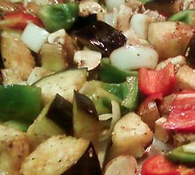 Рецепт: Запечённые овощи под соусом